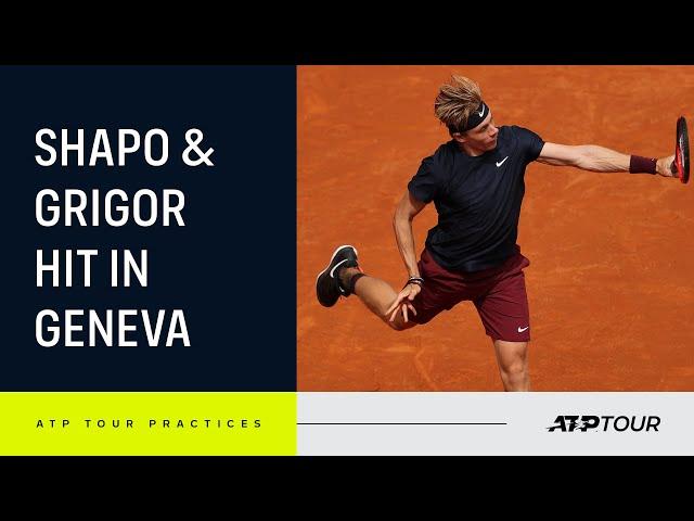Behind the Baseline: Dimitrov & Shapovalov Practice in Geneva 4K