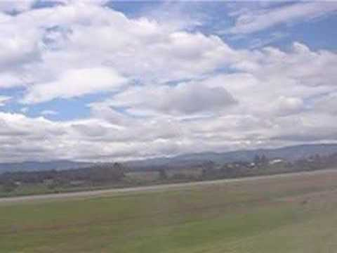 Approaching to land into El Dorado Airport. Bogota/Colombia