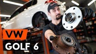 Kuinka vaihtaa takapyöränlaakerit VW GOLF 6 (5K1) -merkkiseen autoon [OHJEVIDEO AUTODOC]