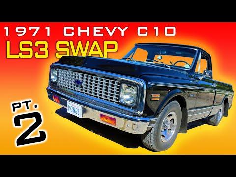 1971 Chevrolet C10 Pickup LS3 4L60 Transmission Swap Video Series Part 2 V8TV