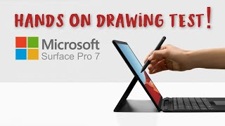 Microsoft Surface Pro 7 artists hands on first look - is it any better than the Pro 6 for artists?