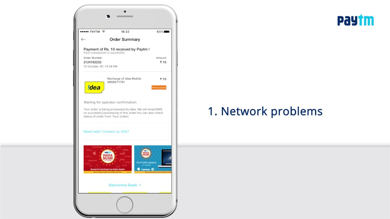 [Paytm Care] - What to do in case of a Pending Recharge?
