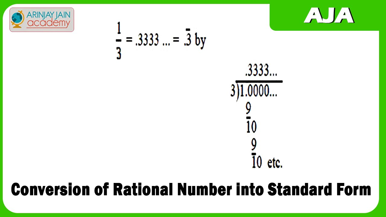 1019. Conversion of Rational Number into Standard Form - YouTube