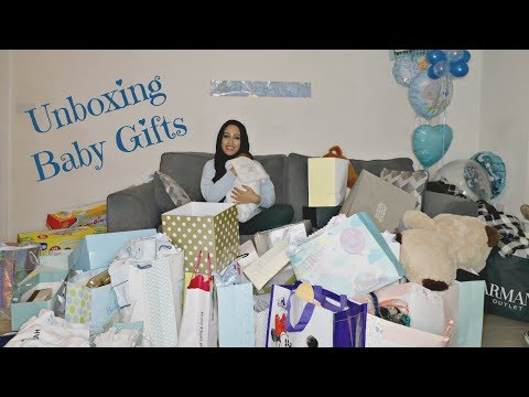 Unboxing Baby Gifts