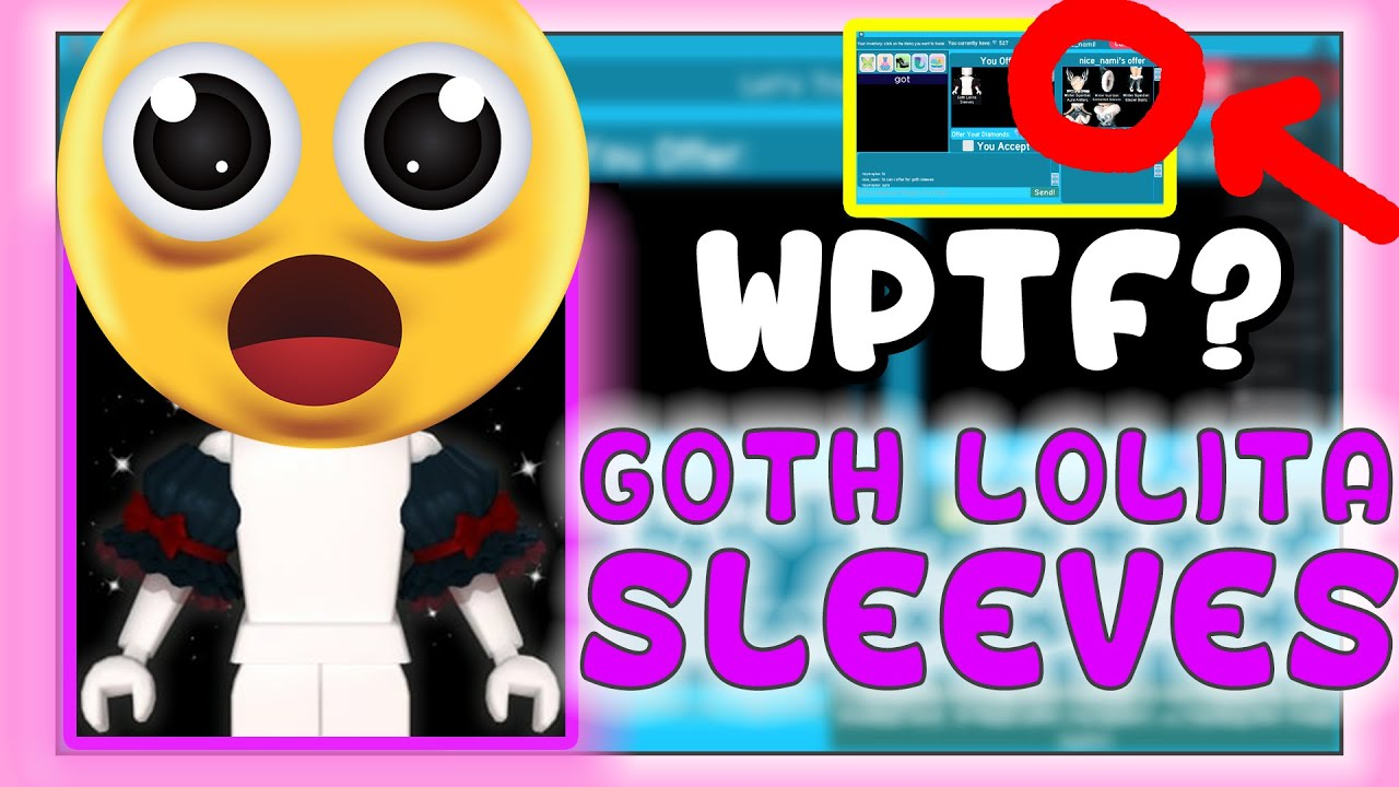 WHAT PEOPLE TRADE FOR GOTH SLEEVES😲   ROYALE HIGH   DALE CYRILLE🍩