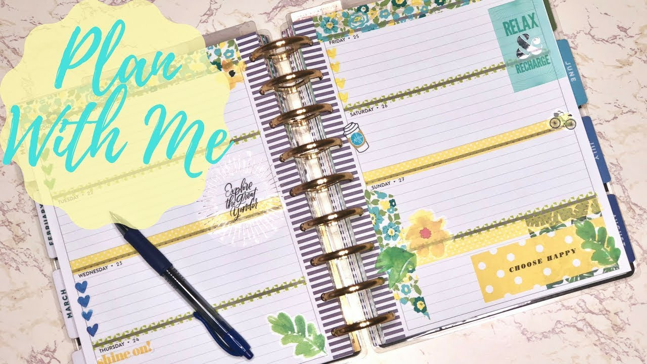 Plan With Me| Horizontal Classic Happy Planner| May 21-27| Weekly Planner  Inspiration
