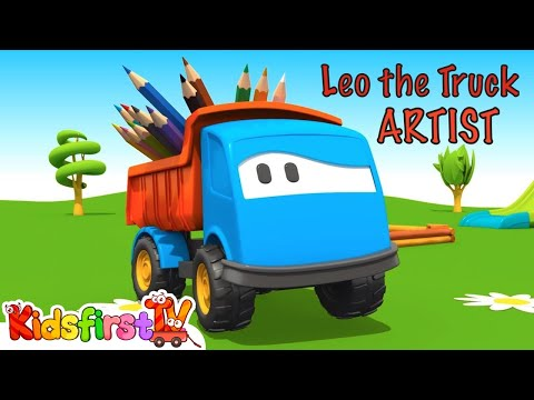 FAMOUS ARTIST! - Leo the Truck Cartoons for Kids Compilation!