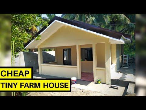 Tiny House Philippines How We Built Our Farm House Philippines Small Farm House Design Tour Youtube