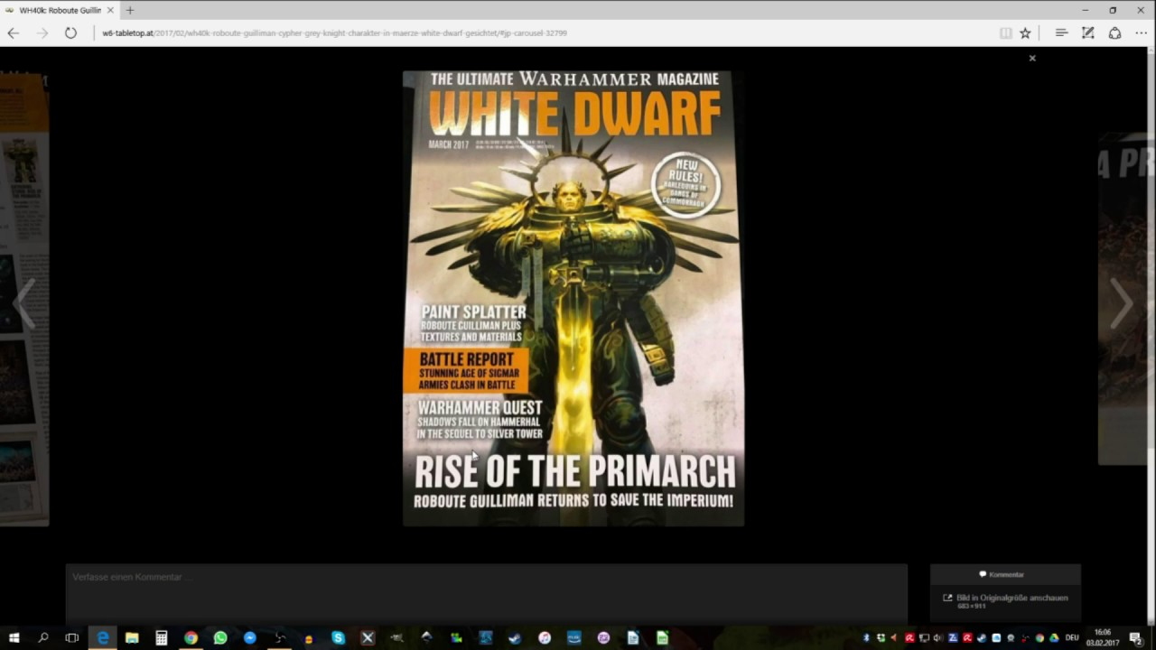 WH40k: Guilliman, Cypher & Grey Knight in März White Dwarf gesichtet!