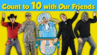 Count to 10 with Our Friends | Counting Song for Kids | Count to 10 by 1's | Jack Hartmann
