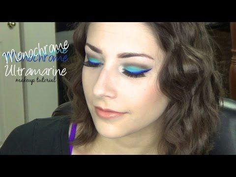 Monochrome Ultramarine Makeup Tutorial : Blue Eyeliner & Eyeshadow