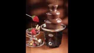 mini chocolate fondue fountain holds up to 1 5 pounds of melted chocolate choc fondue fountain