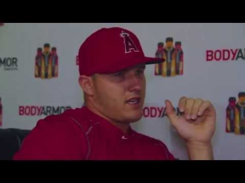 BROOKE AND FRIENDS INTERVIEW MIKE TROUT AT ANGELS STADIUM