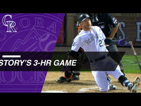 Story's 3-homer game at Coors Field