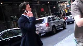 Matt Bomer on set of White Collar 6-10-2011