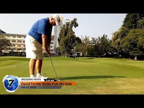 8th Hole Birdie Putt Asia Pattaya Golf Course Thailand