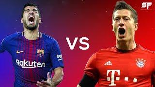Luis Suarez vs Robert Lewandowski  Battle of the Forwards 2018  Goals Dribbling  Skills - HD
