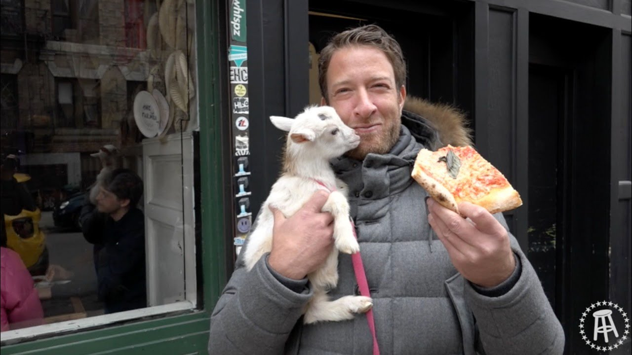 Barstool Pizza Review Best Pizza Brooklyn Bonus Goats Youtube