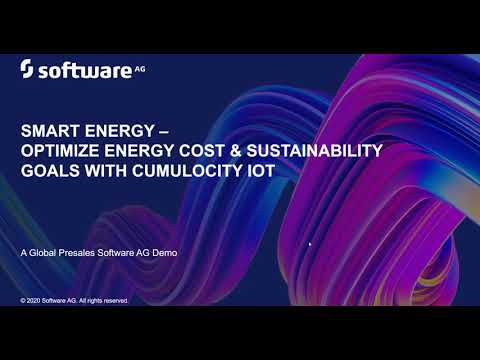 Smart Energy Optimization: Software AG Demo