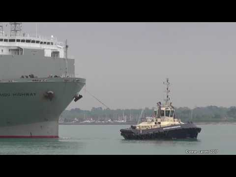 Guangzhou Highway moves from 40 berth Southampton Docks 21/4/17