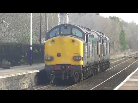 DRS Class 37s Nos 37605 & 37059 At Prudhoe & Metro Centre - 21st February 2017