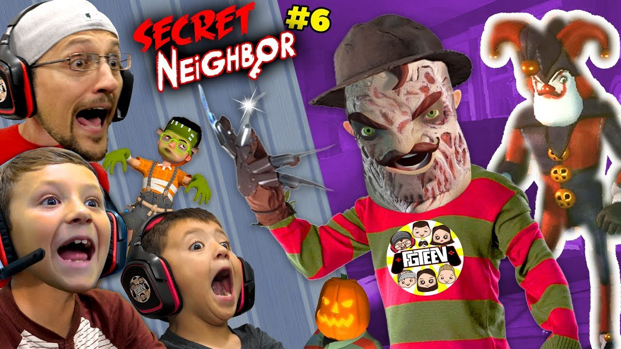 SECRET NEIGHBOR FREDDY KRUEGER is OVERPOWERED!  (FGTeeV Hello Neighbor Escape w Chase #6)