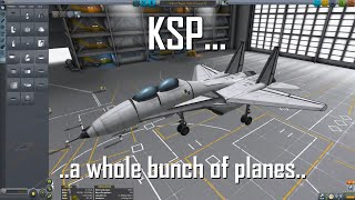 KSP 1.0.5 - Whole Bunch of Fighters (F-15, Su-37, MiG-21, F/A-18F) & the GI-4/GI-43
