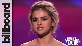 Selena Gomez Tearfully Accepts Woman Of The Year Award At Billboard 39 S Women In Music 2017