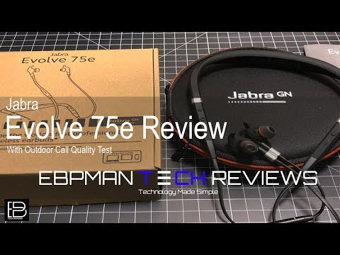 Jabra Evolve 75e Uc Review With Outdoor Call Audio Demo Youtube