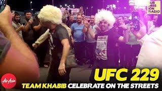 UFC 229: Team Khabib Celebrate McGregor Win, Police Put An End To it