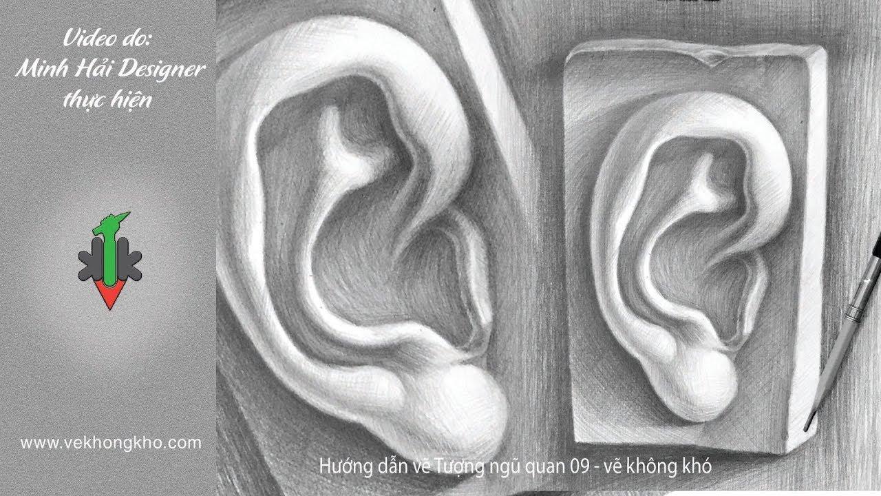 Hướng dẫn vẽ tượng ngũ quan 09 – vẽ không khó
