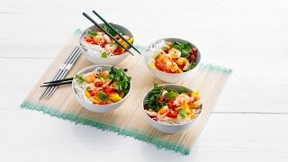 Asian Noodle Salad With Shrimp, Watercress And Mango – Savory