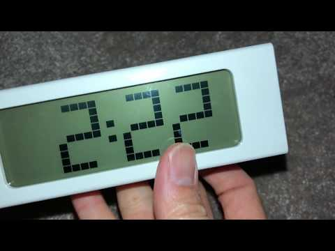 How To Set Time And Alarm For Ikea Vikis Clock