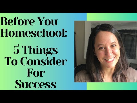How to homeschool - 5 Tips for success