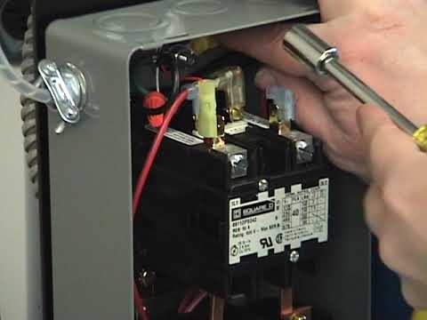 step by step duide on how to wire the magnetic starter on your atlas air  compressor