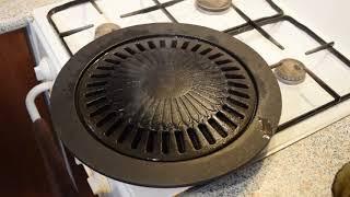 Чугунная сковорода Гриль-Газ. Антипригарное покрытие