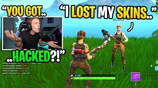 This rich kid got HACKED and LOST his $5,000 Fortnite account... (most EXPENSIVE account ever)