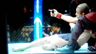 Aldo (Brain Damage???) slow motion knockout fence cam UFC 194