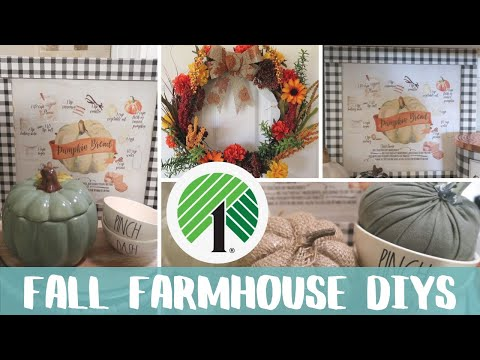 DIY DOLLAR TREE FALL FARMHOUSE DECOR | SIMPLE WREATH MAKING | BUFFALO CHECK PUMPKIN BREAD RECIPE