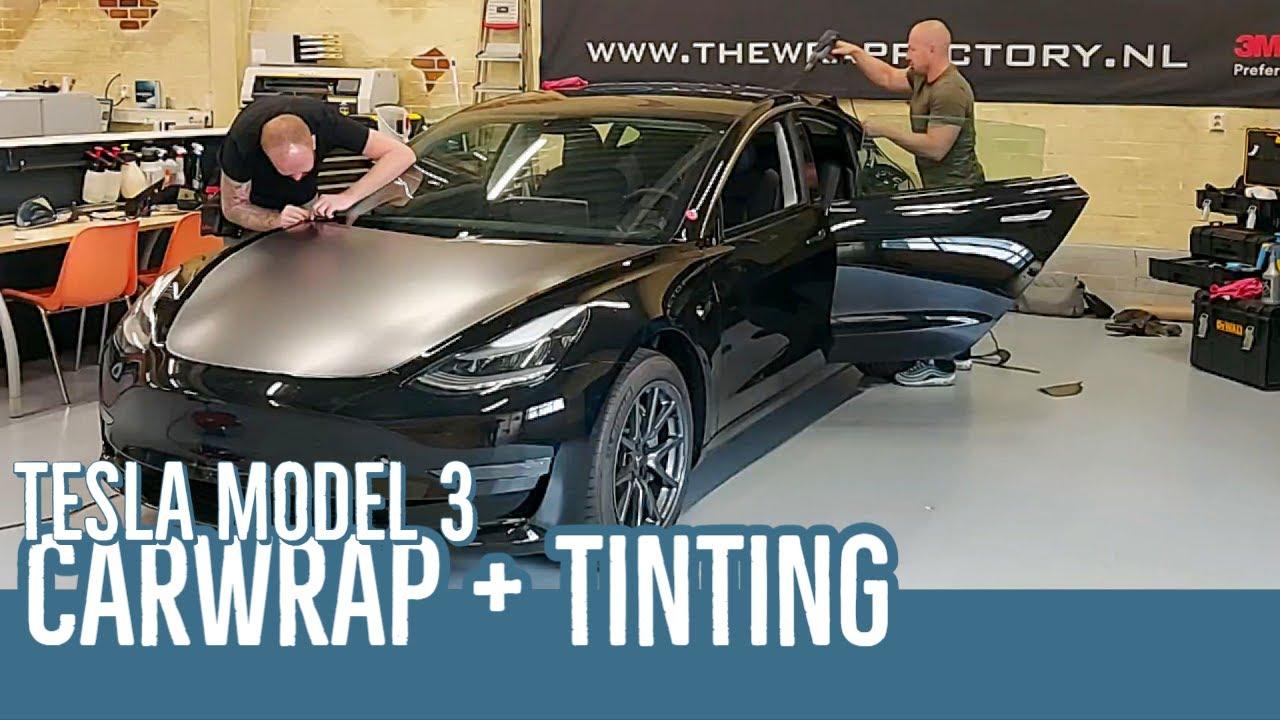 Tesla Model 3 - Carwrapping en window tinting. - YouTube