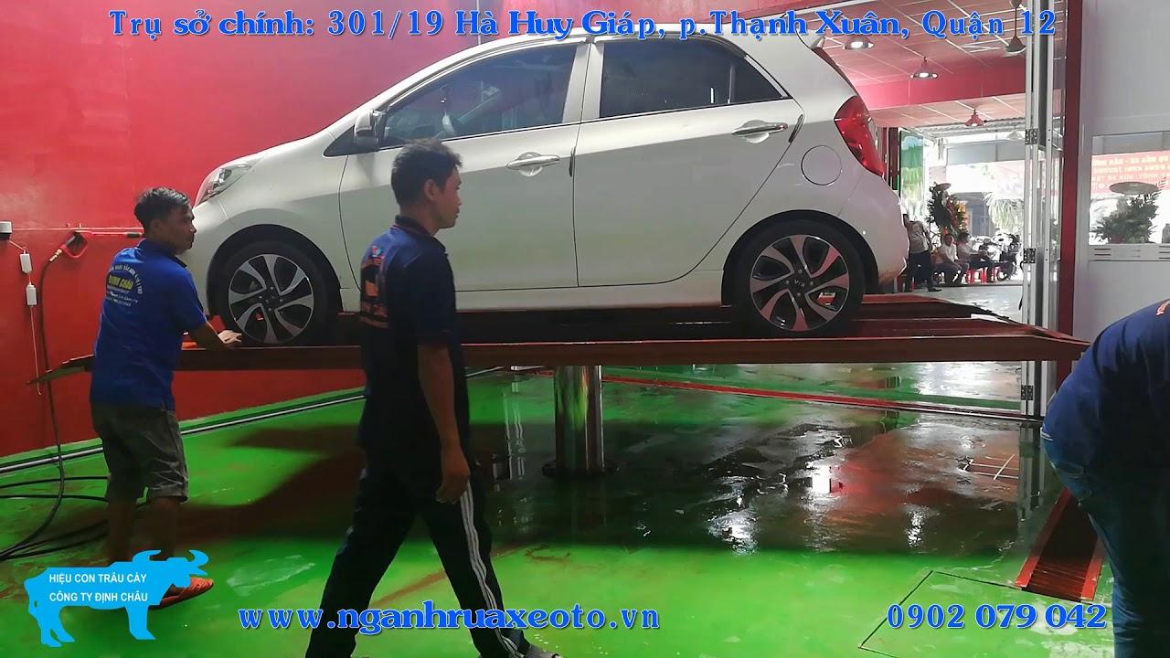 Cầu nâng ô tô 1 trụ xoay 360 độ - Định Châu