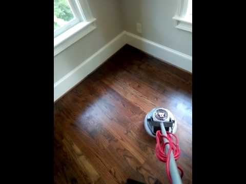 Polishing Hardwood Floors In Atlanta With Oreck Buffer Youtube