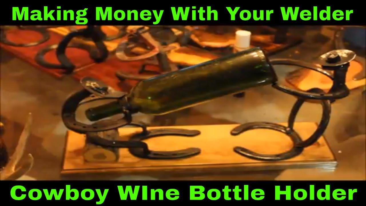 Western Cowboy Wine Bottle Holder Welding Art Youtube