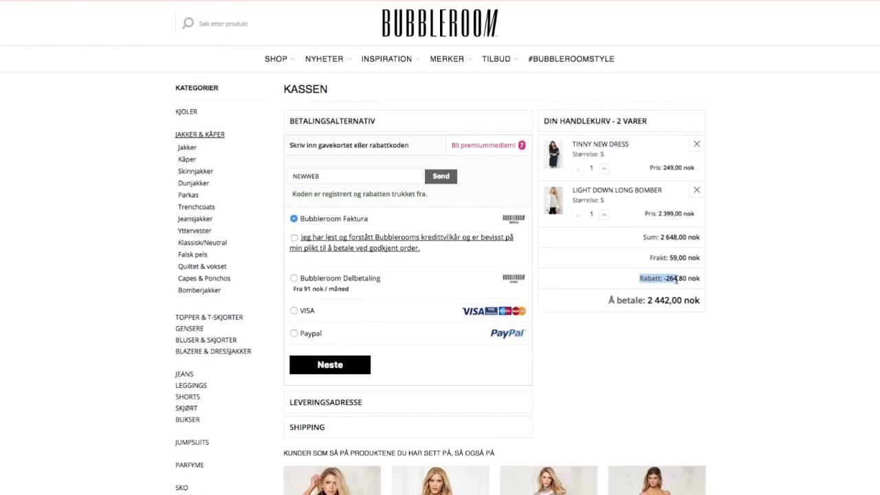 b8e2aed0 Bubbleroom rabattkode & tilbud for juli 2019 - Nettavisen