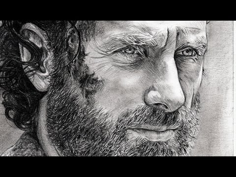 "dessiner-rick-de-""the-walking-dead""-en-hyper-réaliste-!"