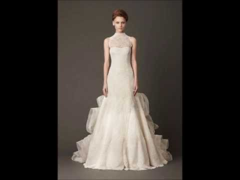 Vestidos de Novia Vera Wang - Modelos 2014 - Blancos - YouTube