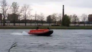 Надувная лодка Reef 390 НД и 390 F НД с дном низкого давления типа тримаран