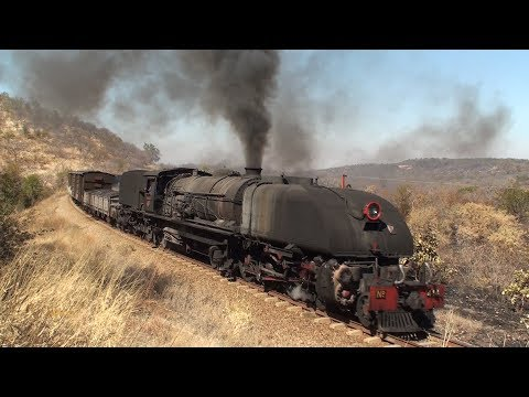 Zimbabwe - 15A Garratt on heavy freight charter (Pt.1), July
