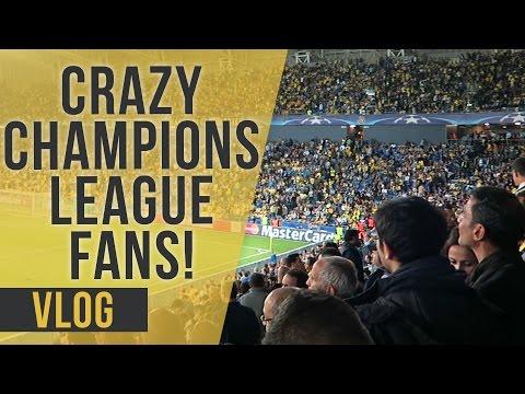 Crazy Champions League Fans! | Maccabi Tel Aviv vs Chelsea | Vlog | Saunders Says