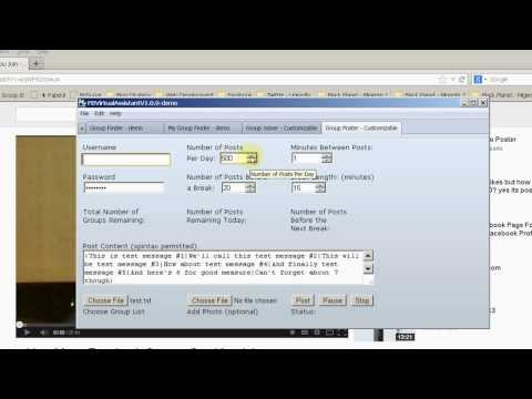 Facebook Groups Poster -How to Post to Facebook Groups Automatically- Facebook Autoposter Software